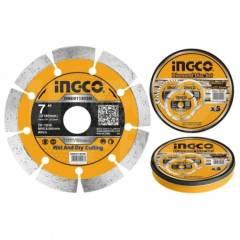 Диск алмазный отрезной сегментный 180 мм INGCO DMD011802M