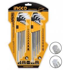 Набор ключей HEX и TORX INGCO HHKSET0181
